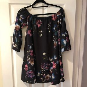 Cute off the shoulder ASOS floral dress dice 6